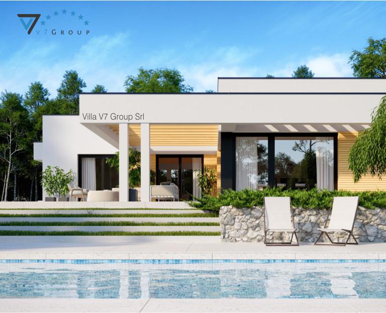 Immagine Villa V73 (progetto originale) - vista piscina