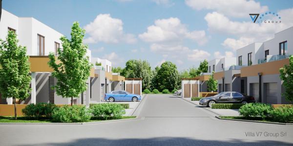Immagine Ville di V7 Group Srl - la strada principale del villaggio montagna verde