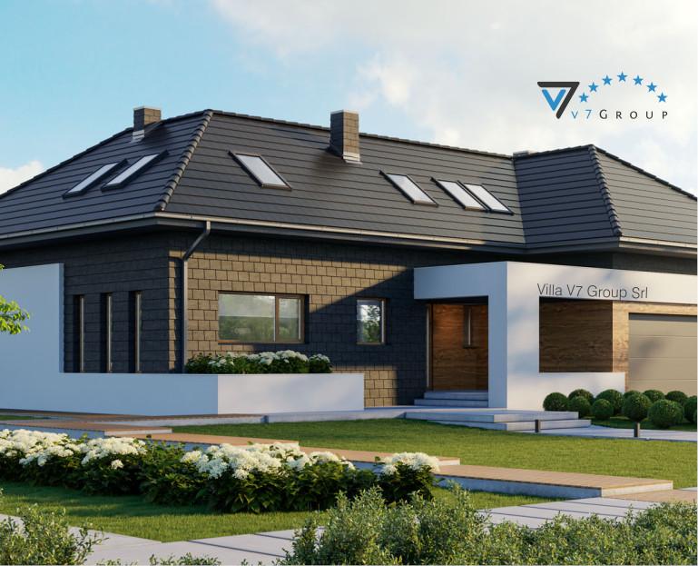 Immagine Villa V13 (progetto originale) - il terrazzo esterno ingrandito