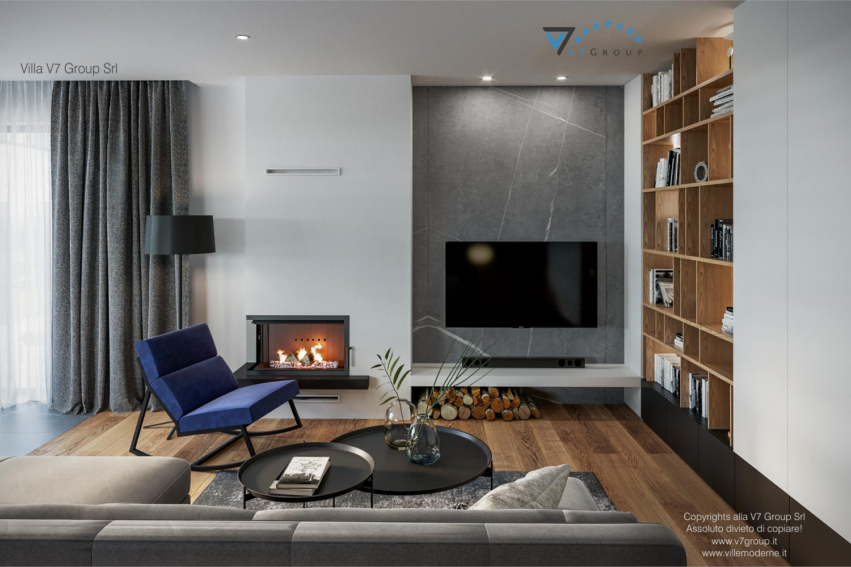 Immagine Villa V70 - interno 1 - soggiorno e tv grande