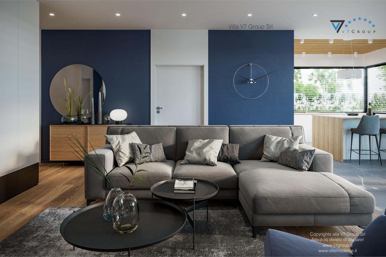 Immagine Villa V70 - interno 3 - il divano nel soggiorno