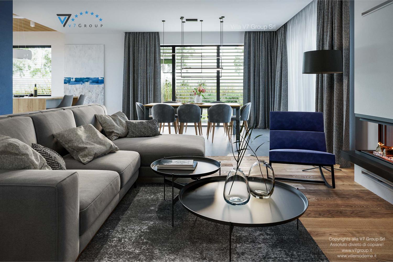 Immagine Villa V70 - interno 5 - il soggiorno e la sala da pranzo