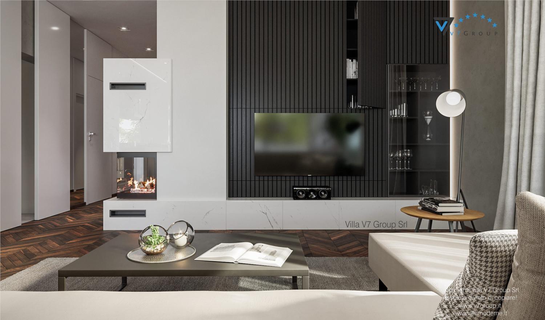 Immagine Villa V71 - interno 2 - camino e tv nel soggiorno grande