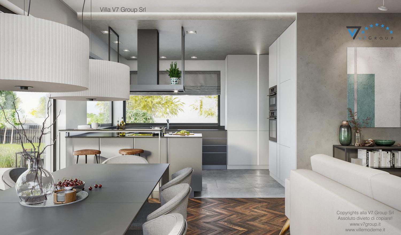 Immagine Villa V71 - interno 6a - sala da pranzo e cucina grande