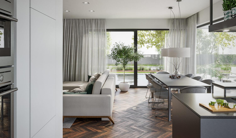 Immagine Villa V71 - interno 7 - sala da pranzo e cucina in dettaglio