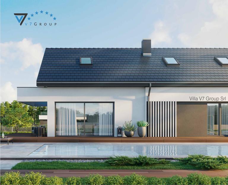 Immagine Villa V71 (progetto originale) - vista piscina