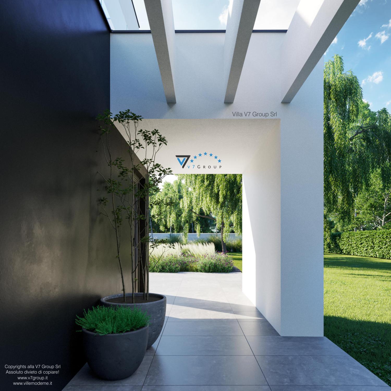 Immagine Villa V37 - nuova vista del marciapiede esterno