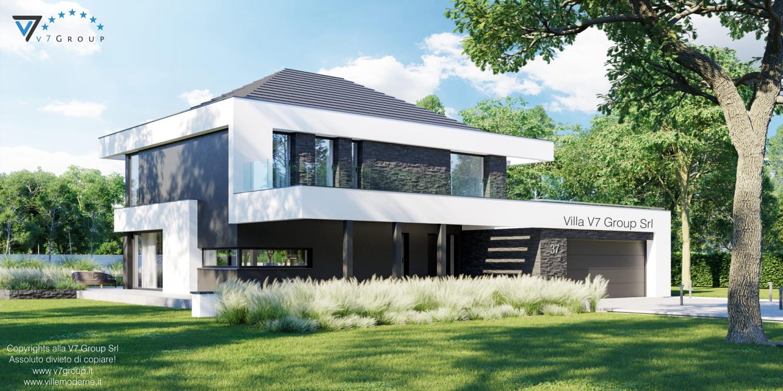 Immagine Villa V37 - nuova vista frontale esterna