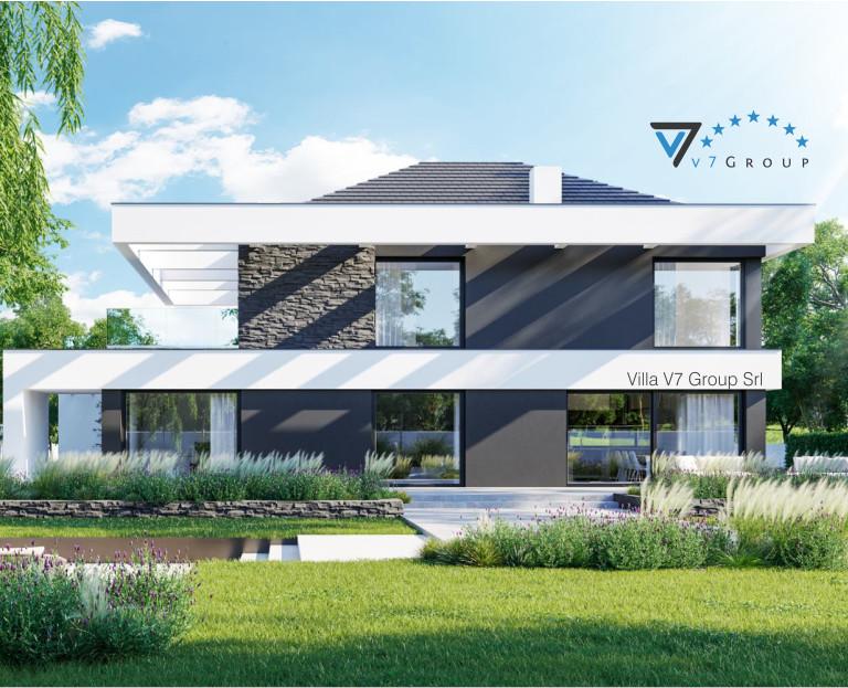 Immagine Villa V37 (progetto originale) - il terrazzo esterno della villa ingrandito
