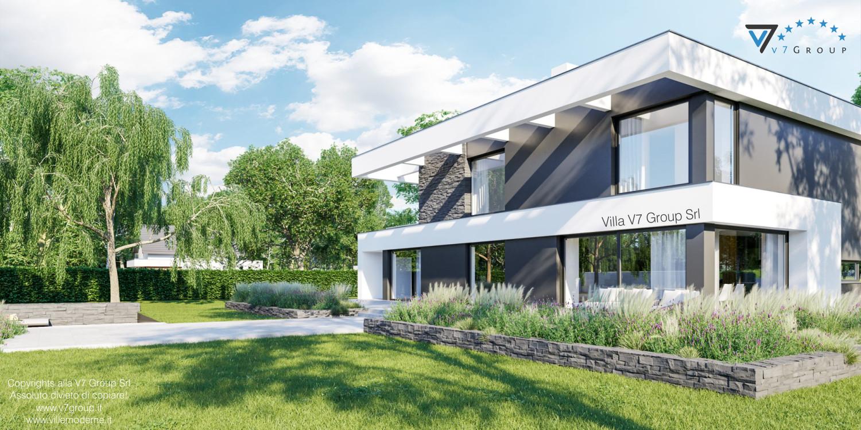 Immagine Villa V37 - nuova vista laterale giardino esterno