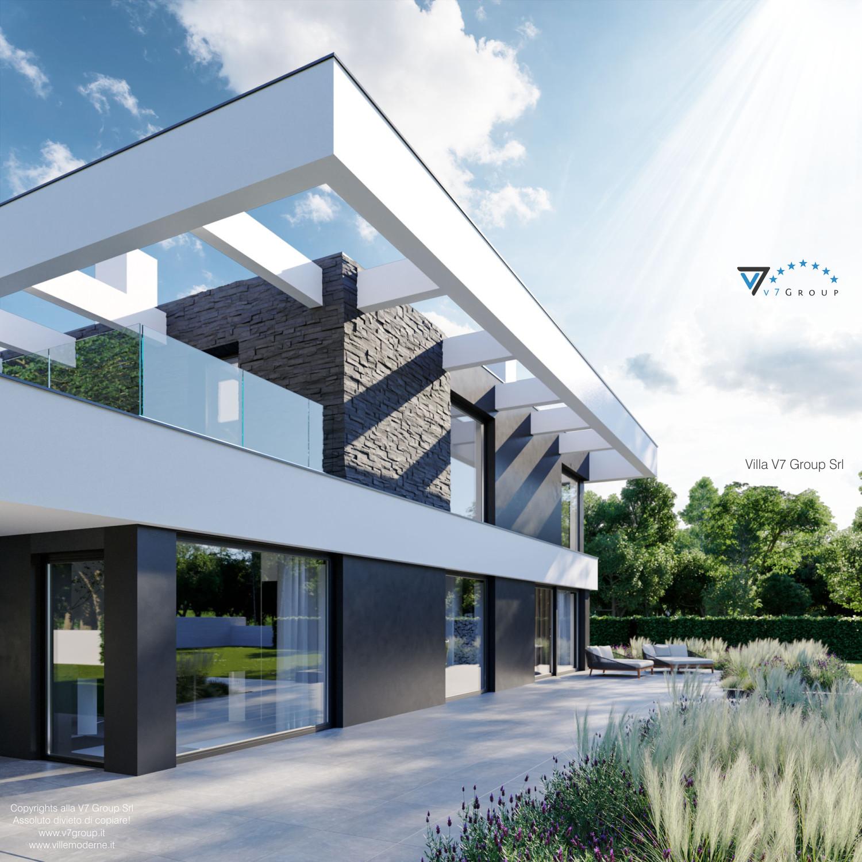 Immagine Villa V37 - nuova vista terrazzo esterno in dettaglio