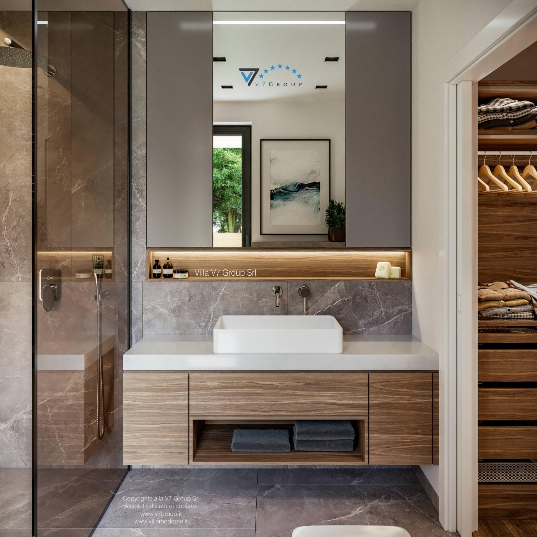 Immagine Villa V73 - interno 15 - lo specchio nel bagno grande