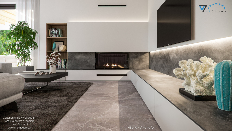 Immagine Villa V73 - interno 3 - camino nel soggiorno grande