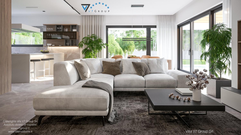 Immagine Villa V73 - interno 5 - il divano nel soggiorno grande