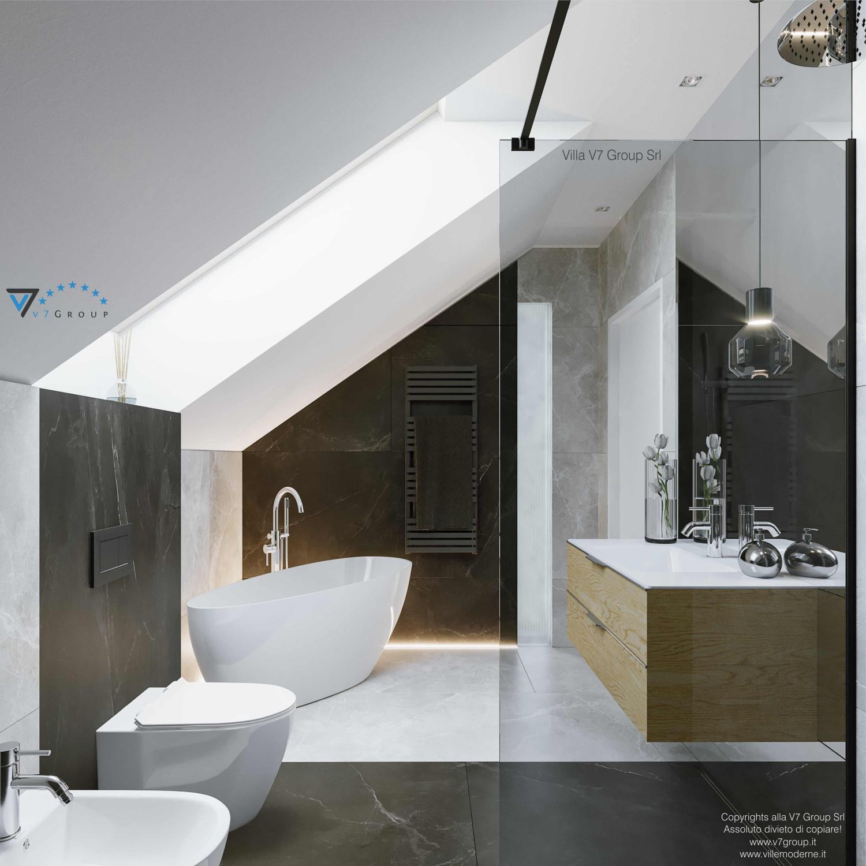 Immagine Villa V72 - interno 12 - vista specchio nel bagno grande