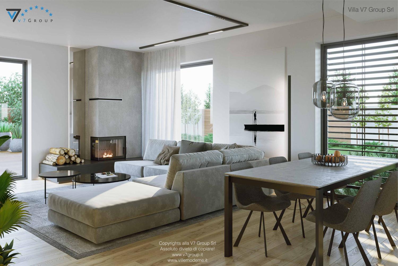 Immagine Villa V72 - interno 2 - vista design del soggiorno grande