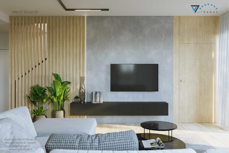 Immagine Villa V72 - interno 3 - vista la tv nel soggiorno grande
