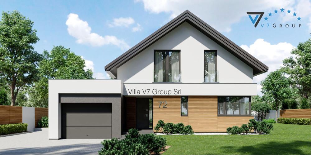 Immagine link Villa V72 D - vista frontale di Villa V72
