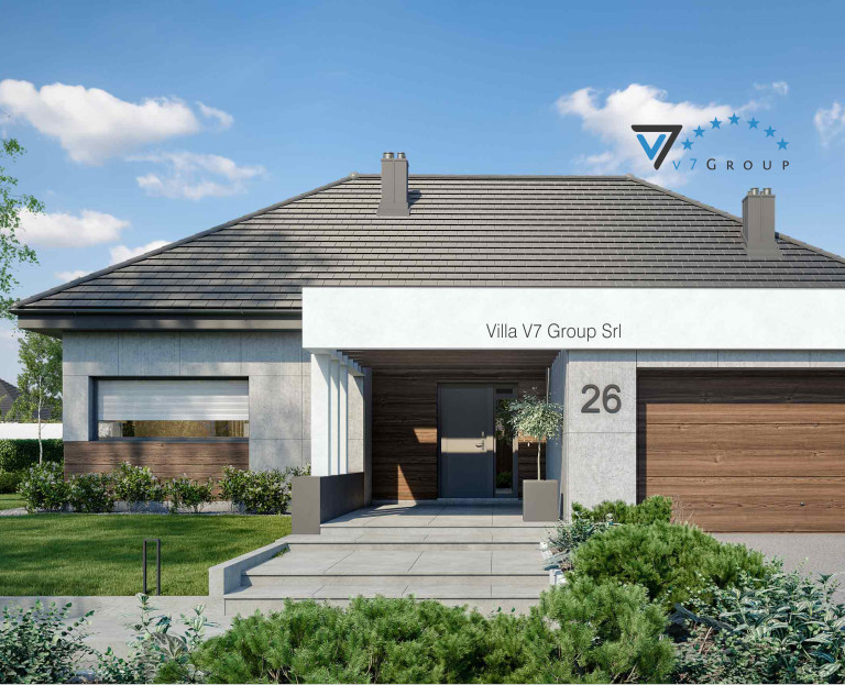 Immagine Villa V26 (progetto originale) - l'entrata principale della casa
