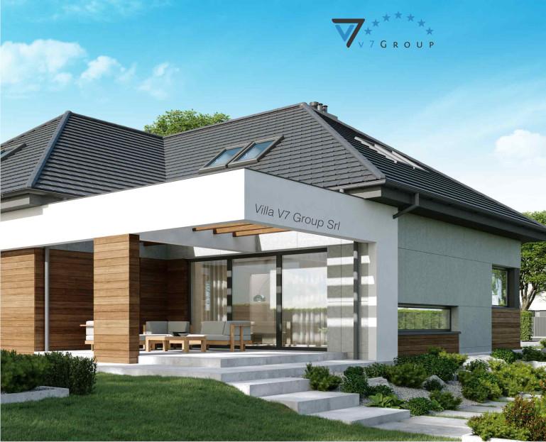 Immagine Villa V33 (progetto originale) - il terrazzo esterno ingrandito