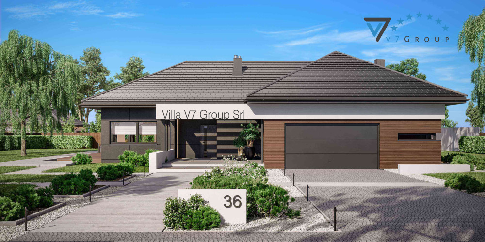 Immagine link Villa V36/1 - vista frontale di Villa V36