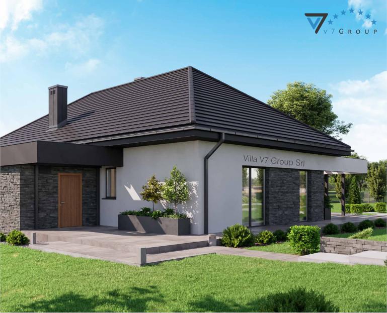 Immagine Villa V42 (progetto originale) - il terrazzo esterno ingrandito