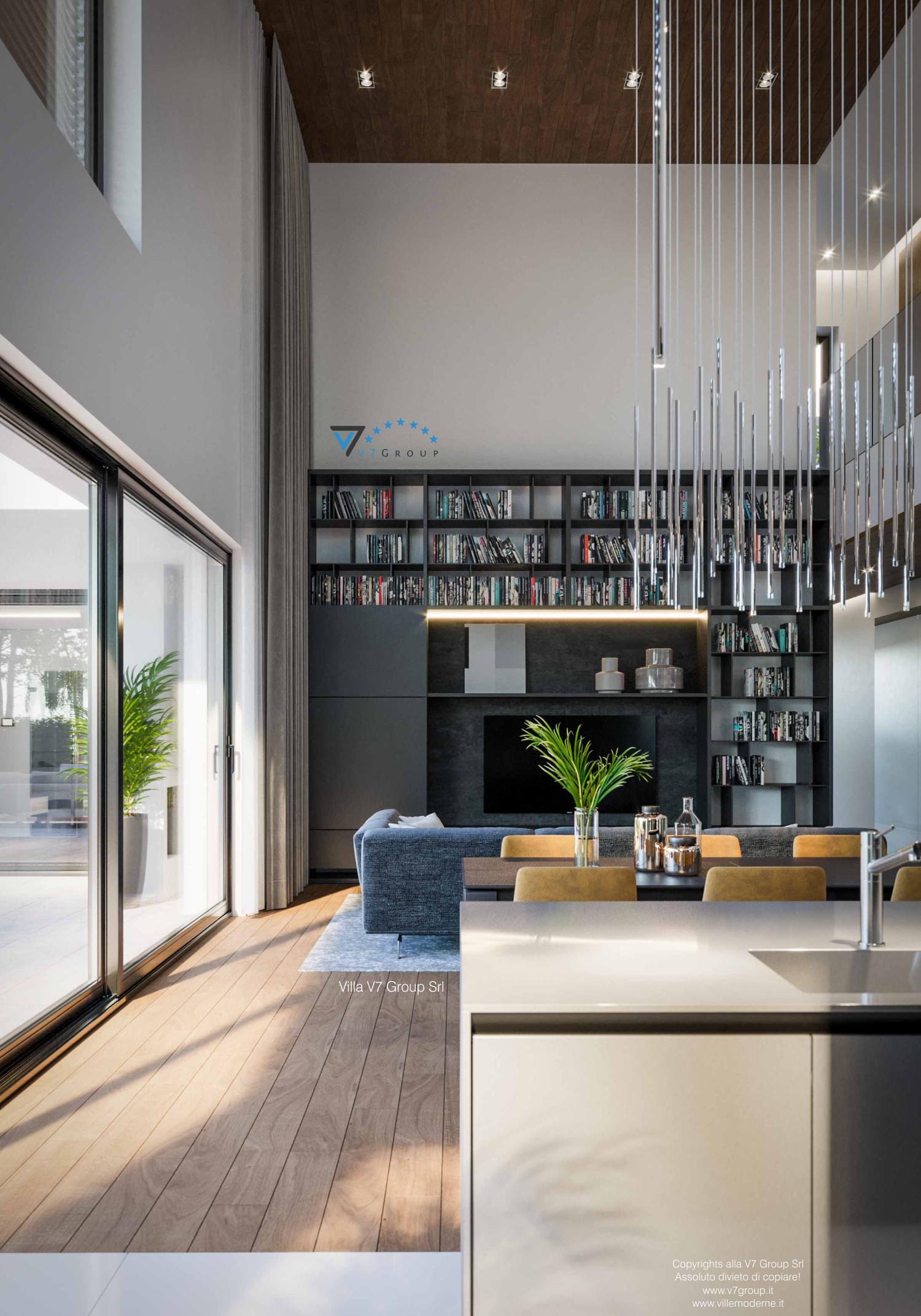 Immagine Villa V74 - interno 11 - zona giorno in dettaglio