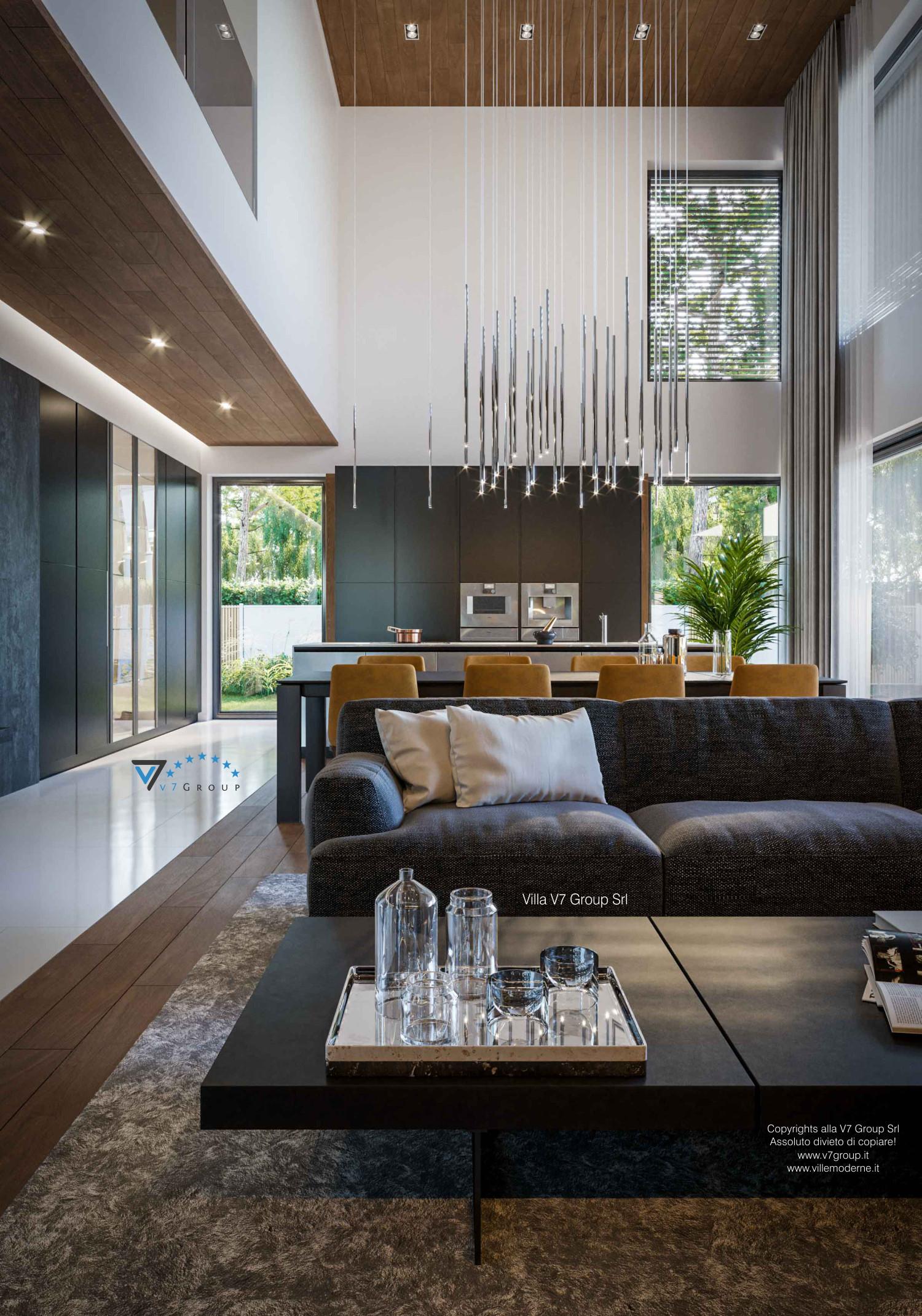 Immagine Villa V74 - interno 2 - soggiorno in dettaglio