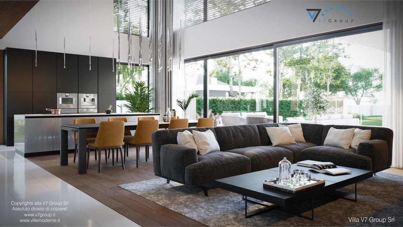 Immagine Villa V74 - interno 3 - divano nel soggiorno