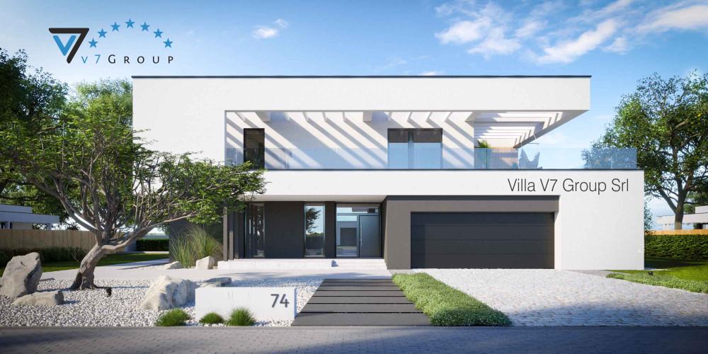 Immagine Villa V73 (progetto originale) - vista frontale Villa V74 - link