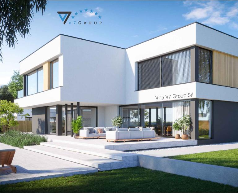 Immagine Villa V74 (progetto originale) - vista giardino