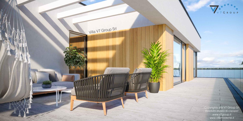 Immagine Villa V74 - vista sedie e divano sul terrazzo esterno