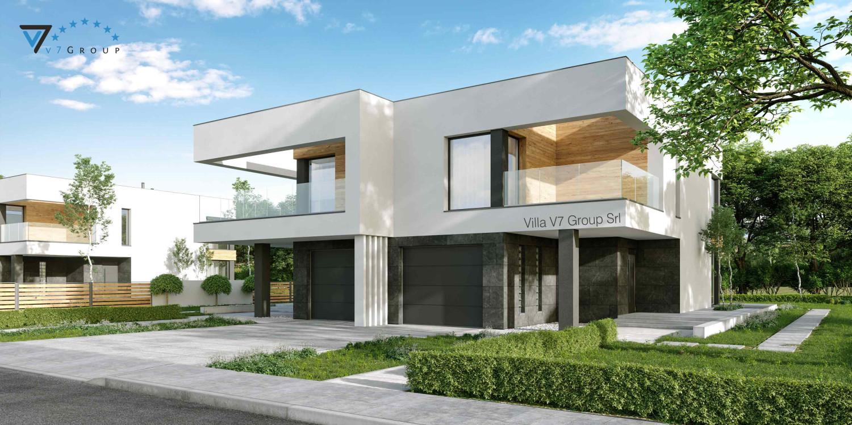 Immagine Villa V74 (progetto originale) - vista frontale Villa V75 B - link