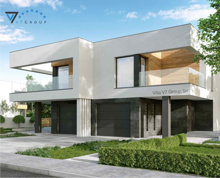 Immagine Villa V75 B (progetto originale) - vista frontale