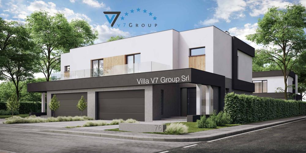 Immagine link Villa V75 B (progetto originale) - vista frontale Villa V76 D