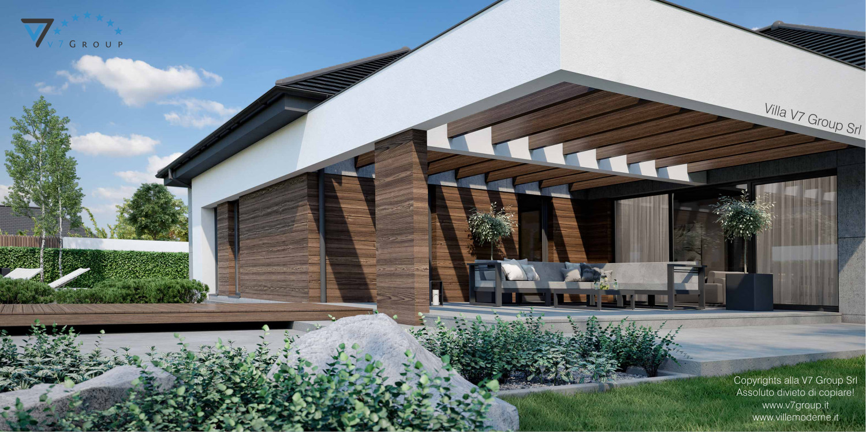 Immagine Villa V26, variante 2 - vista terrazzo esterno grande