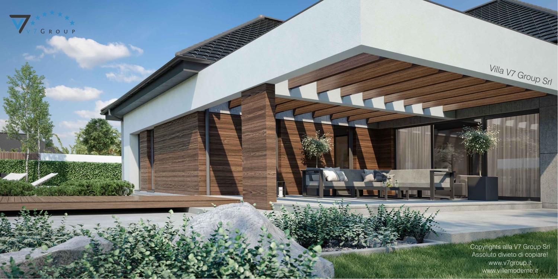 Immagine Villa V26, variante 3 - vista terrazzo esterno in dettaglio grande
