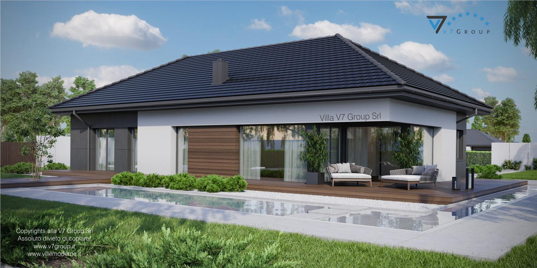 Immagine Villa V36 - variante 1 - vista giardino grande