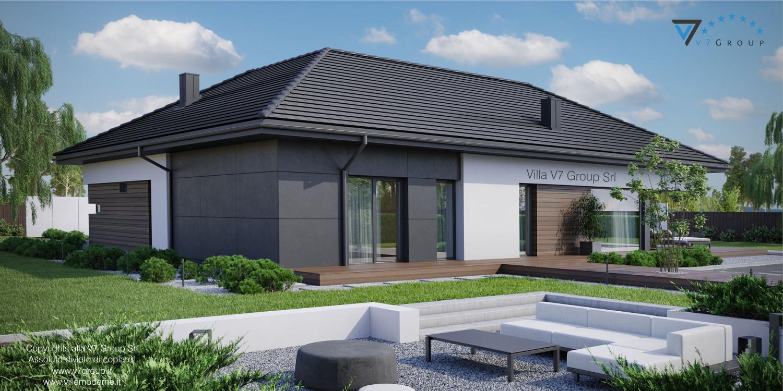 Immagine Villa V36 - variante 1 - vista laterale grande