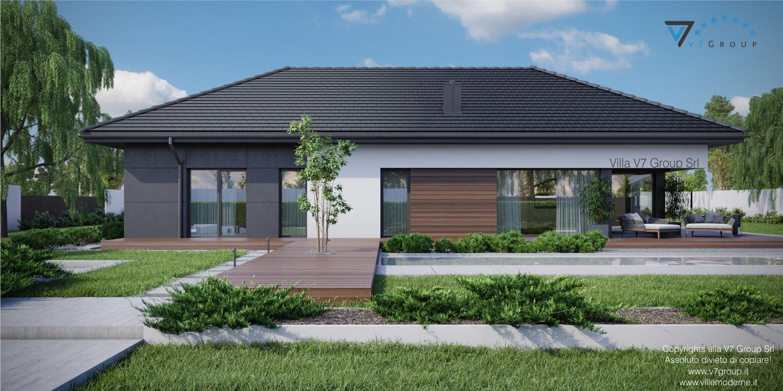 Immagine Villa V36 - variante 1 - vista terrazzo esterno grande