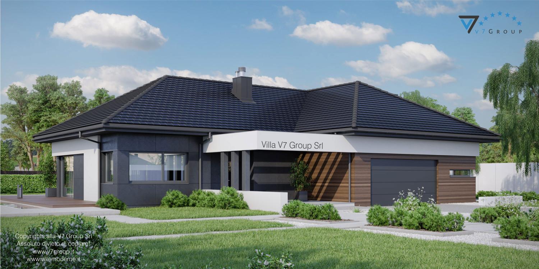 Immagine Villa V36 - variante 2 - vista frontale laterale grande