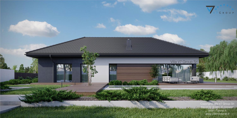 Immagine Villa V36 - variante 2 - vista giardino grande