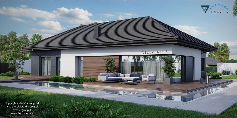 Immagine Villa V36 - variante 2 - vista terrazzo esterno grande