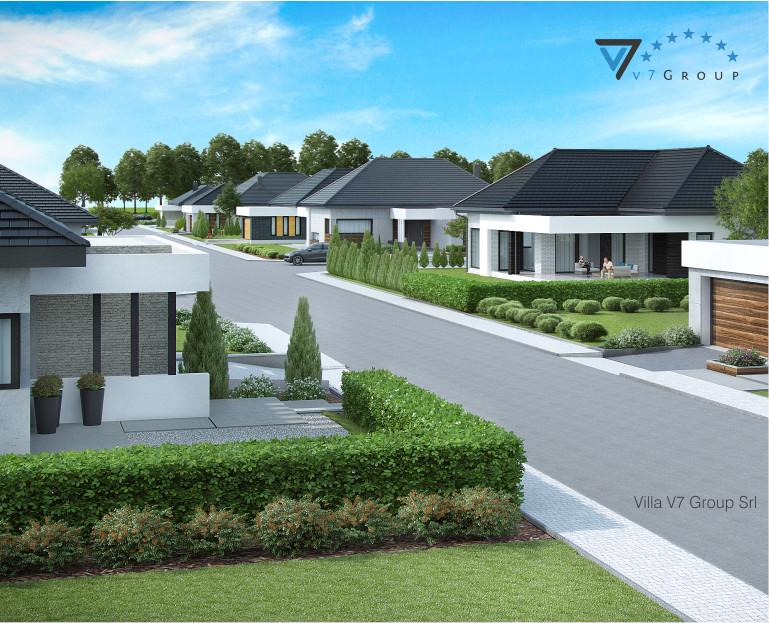 Immagine dettagliata della strada principale del Villaggio Frame House