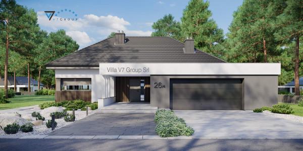 Immagine Ville di V7 Group Srl - la vista frontale di Villa V26 - variante 4