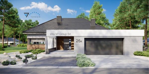Immagine Ville di V7 Group Srl - la vista frontale di Villa V26 - variante 6