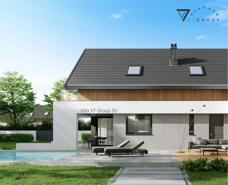 Immagine Villa V1 ENERGO - vista del terrazzo esterno e piscina