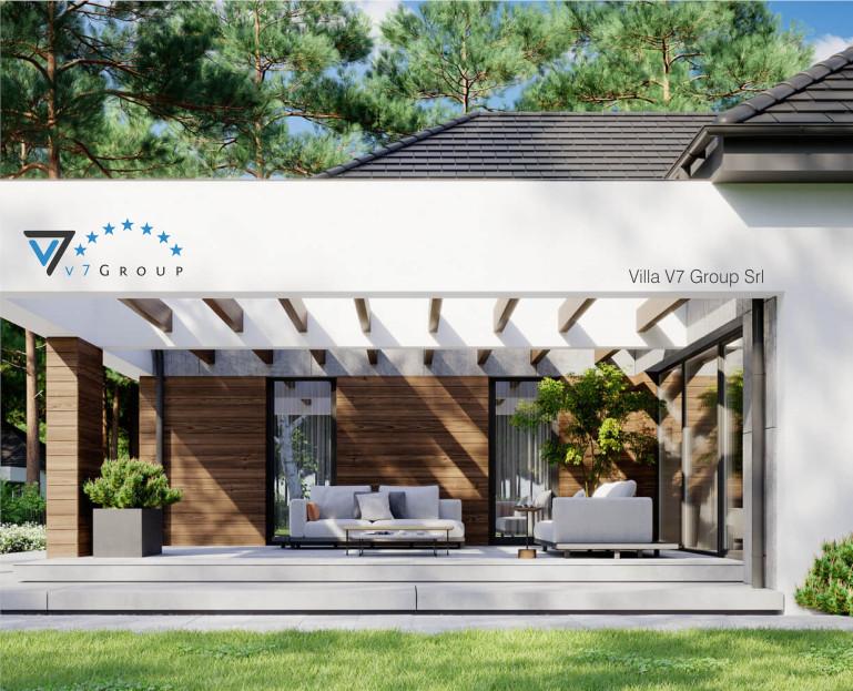 Immagine Villa V26 - variante 6 - il terrazzo esterno