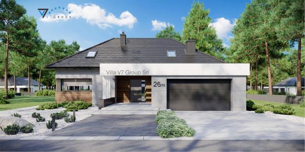 Immagine Ville di V7 Group Srl - la vista frontale di Villa V26 - Variante 10