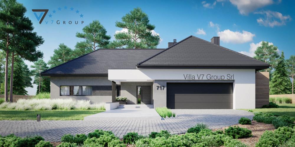 Immagine link Villa V718 (progetto originale) - vista frontale di Villa V717